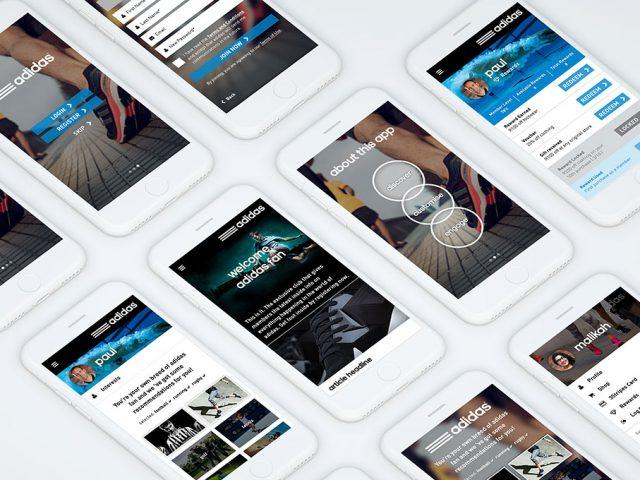 adidas 3Stripes website & app design