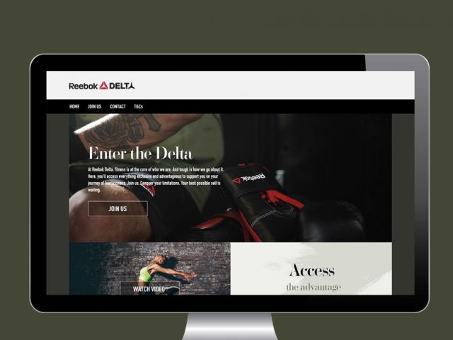 Reebok Delta sign up journey