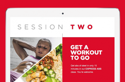 Virgin Active email CRM campaign design