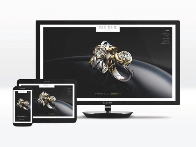 Van Deijl Jewellers website design