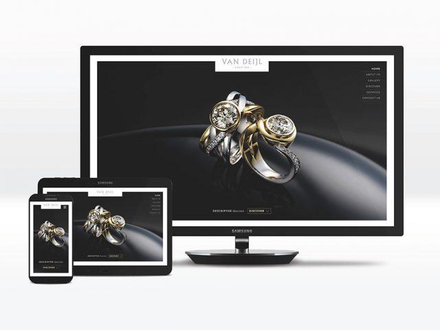 Van Deijl Jewellers website design