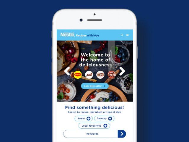 Nestlé Recipes with Love website