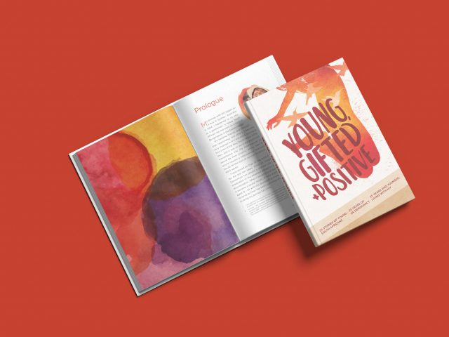 Young, Gifter + Positive design & layout